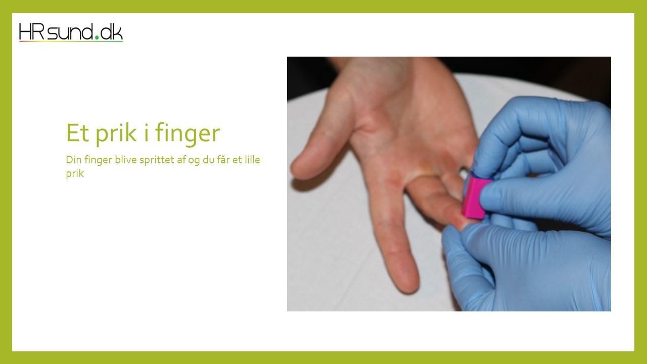 Finger sprites af og du får et lille prik i fingeren
