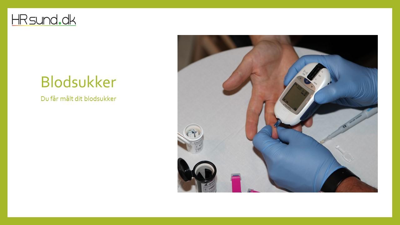 Vi måler dit blodsukker