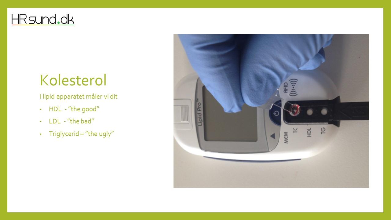 Lipid Pro måler alle 3 kolesteroler